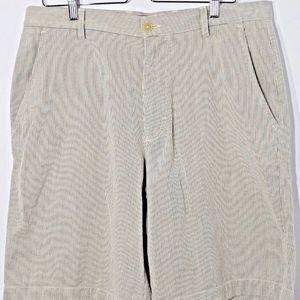 Banana Republic Shorts striped sz 35 flat front